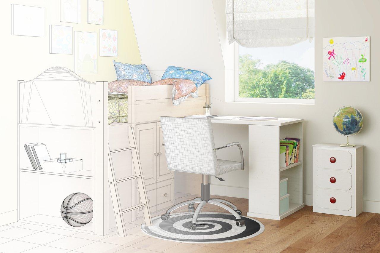 das kinderzimmer vom schreiner bett schrank schreibtisch schreinerei binzler gmbh. Black Bedroom Furniture Sets. Home Design Ideas